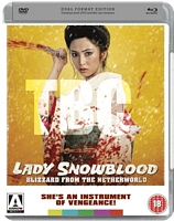 Lady Snowblood Uk DVD/Blu Combo test cover